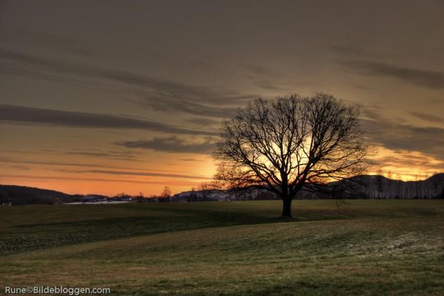 Naken-i-solnedgangen