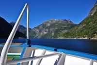På dekket på Geirangerfjord