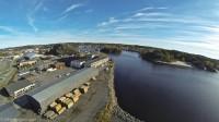 Larvik havn - flyfoto