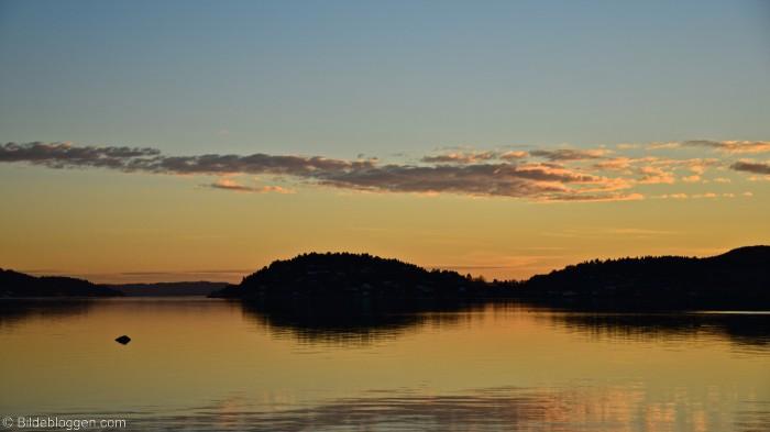 Solnedgang i Drammensfjorden