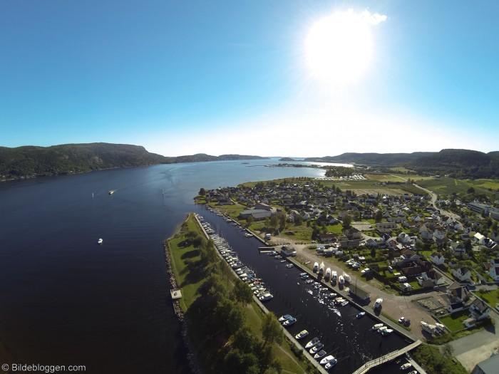 Flyfoto fra Svelvik - Vestfold