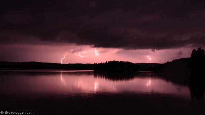 Lyn og torden i Sigdal